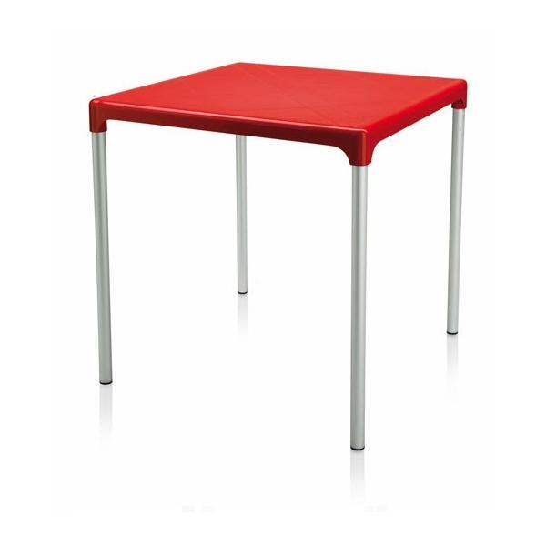 Tavolo 70x70 boulevard in polipropilene con gambe in for Tavoli sedie bar