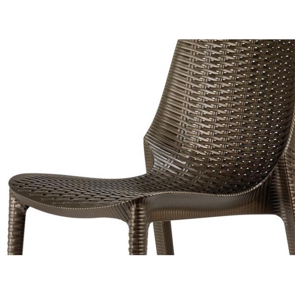 Sedia lucrezia contract bar sedie rattan esterno for Poltrone giardino economiche