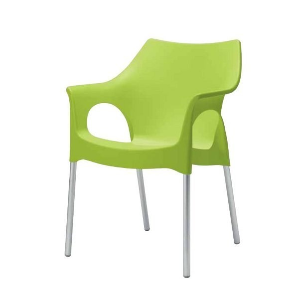 Sedia con braccioli esterno economica sedie colorate per for Divani con gambe