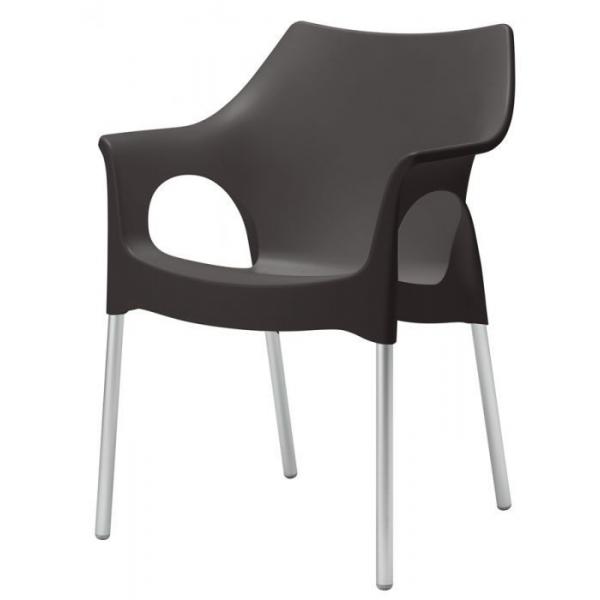 Sedia con braccioli esterno economica sedie colorate per for Poltrone ufficio prezzi
