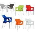OLA - Sedia (poltrona) Impilabile in polipropilene con gambe in alluminio SCAB DESIGN per bar, ristorante, hotel