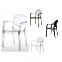 IGLOO CHAIR SPED.GRATUITA - Sedia con braccioli contract Impilabile Policarbonato bar ristorante hotel