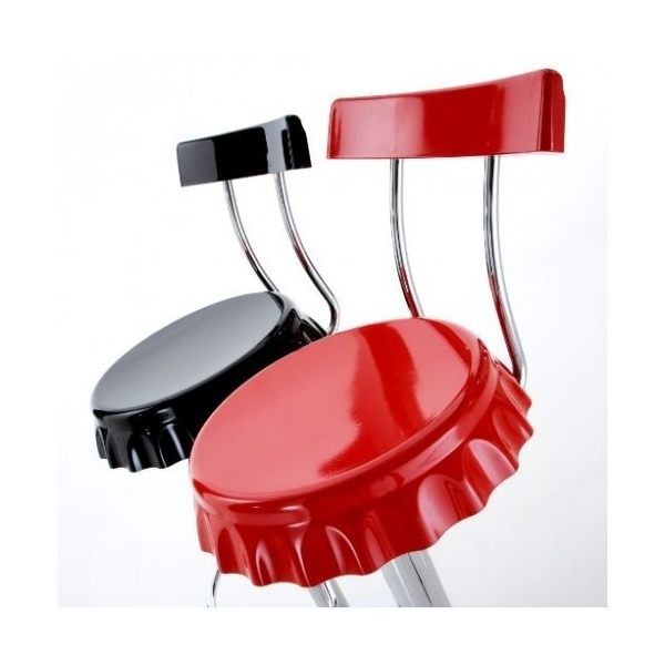 - Sgabello bar in plastica ABS gamba cromata per casa, ufficio, bar ...
