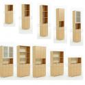 Armadio ufficio in legno con ante e scaffali