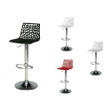 SPIDER - Sgabello bar trasparente o vari colori a scelta gamba cromata, casa, bar, ristorante, hotel, GrandSoleil