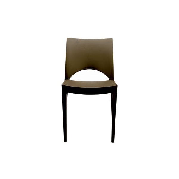 Sedia moderna impilabile marrone modello Paris - Sedia moderna impilabile modello Paris. Sedie moderne per casa, cucina, soggiorno, ufficio, sala d'attesa, sala conferenze, bar, ristorante, pub, pizzeria, gelateria, pasticceria, negozio, albergo, discoteca al miglior rapporto prezzo - qualità. Sedia PARIS in polipropileneᅠadatta sia per ambienti interni che esterni, impilabile, robusta e leggera. Disponibile in colori: BIANCO, ANTRACITE, ROSSO, AVORIO, ARANCIO, VERDE MELA, TEAK.