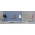 ZEBRA TECNOPOLIMERO - sedia impilabile gambe in accaio cromato per casa, ufficio, bar, ristorante, hotel SCAB DESIGN