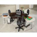 Devona 1 - Isola scrivania ufficio tre posti