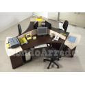 Satida 2 - Isola scrivania  ufficio tre posti