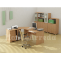 Adonia - Scrivania ufficio angolare un posto