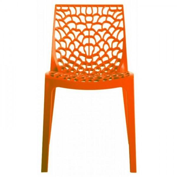 Sedie arancioni Grand Soleil in polipropilene modello Gruvyer P