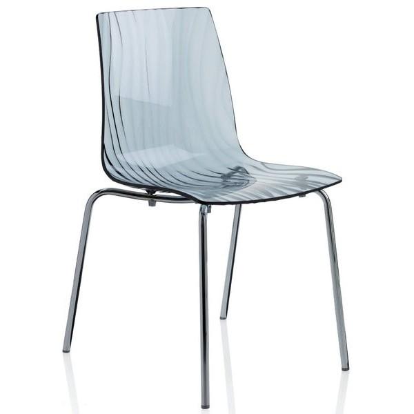 Vendita sedia policarbonato sedie impilabili da esterno for Sedie a slitta economiche