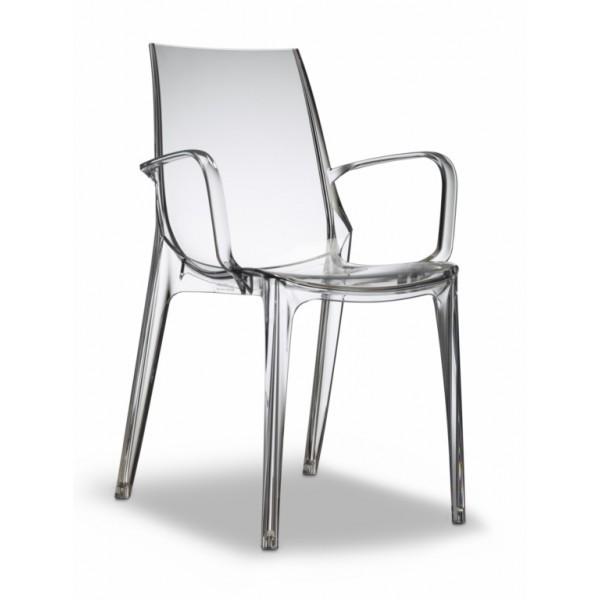 Vanity sedia con braccioli impilabile in policarbonato - Sedie policarbonato ...