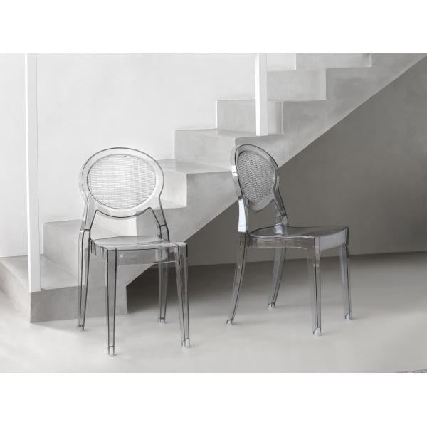 barbarella sedia impilabile in policarbonato scab design - mondoarreda - Sedie Per Soggiorno Design