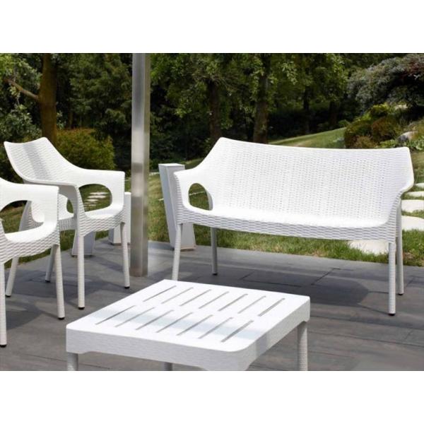 Olimpo sofa set da due divanetti impilabili in for Divanetti rattan