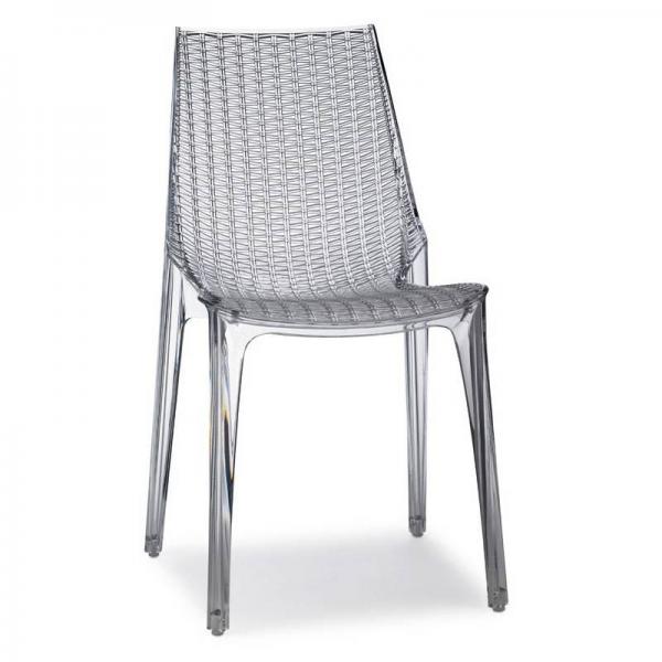 Tricot chair sedia impilabile in policarbonato scab design for Sedia ufficio trasparente