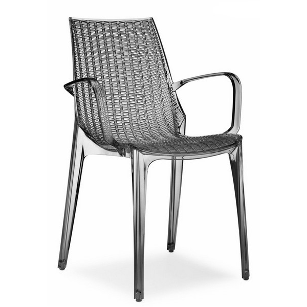 Tricot sedia con braccioli impilabile in policarbonato for Sedie design scontate