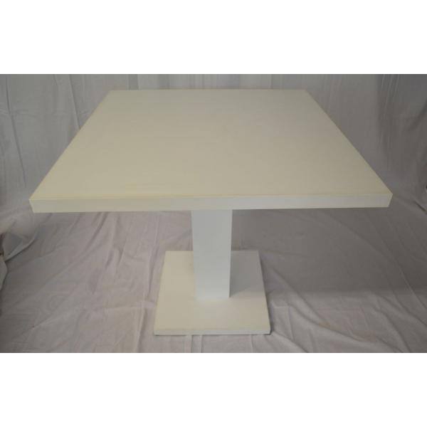 Tavolo alto in legno gamba centrale tavolini h90cm for Tavolini da ufficio
