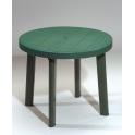 SESTRI - Tavolo singolo Grand Soleil diametro 90cm in ecoresina da giardino casa bar ristorante