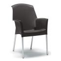Sedia SUPER JENNY Impilabile in Polipropilene con Gambe in Alluminio SCAB DESIGN