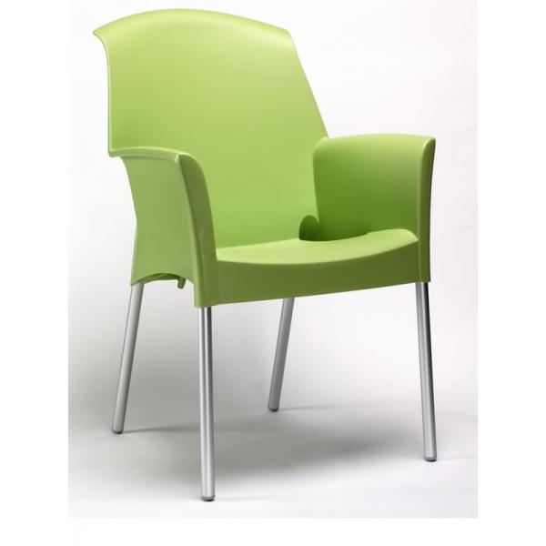 Sedia con braccioli esterno economica sedie colorate per for Sedie alluminio