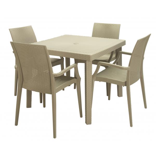 Tavolo boheme contract simil rattan tavoli bar ristorante for Piani domestici moderni 2500 piedi quadrati