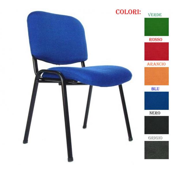 Vendita sedie tessuto ignifugo metallo sedie ufficio for Vendita online sedie ufficio
