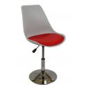 Tulipano - Sedia sgabello in polipropilene,base cromata casa,ufficio,sala d'attesa,sala conferenze