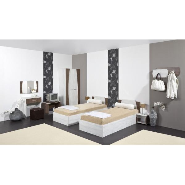 Merida arredo camera d 39 albergo doppia mondoarreda for Arredo camere albergo