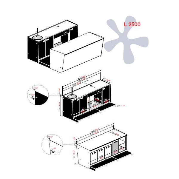 Banco bar start up l 2500 pronta consegna mondoarreda for Planimetrie da 2500 piedi quadrati