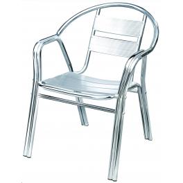 Sedia alluminio bar poltrona in alluminio doppio tubolare for Sedie in alluminio