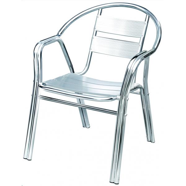 Sedia alluminio bar poltrona in alluminio doppio tubolare for Tavoli e sedie per giardino