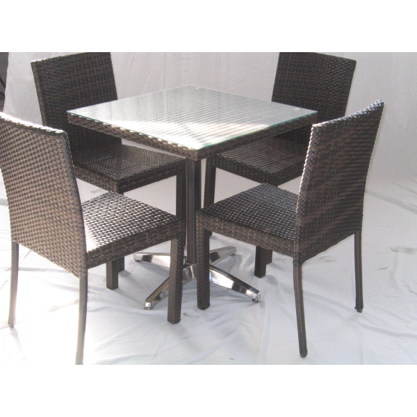 Vendita tavolo contract simil rattan tavoli bar ristorante for Sedie tavolo esterno