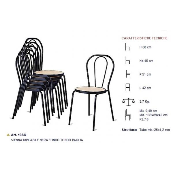 Sedia thonet sedia impilabile sedie esterno bar sedie for Poltrone giardino economiche