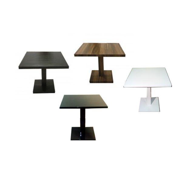 Tavolo giove q in legno gamba centrale tavolini ristorante for Tavoli per ristoranti usati