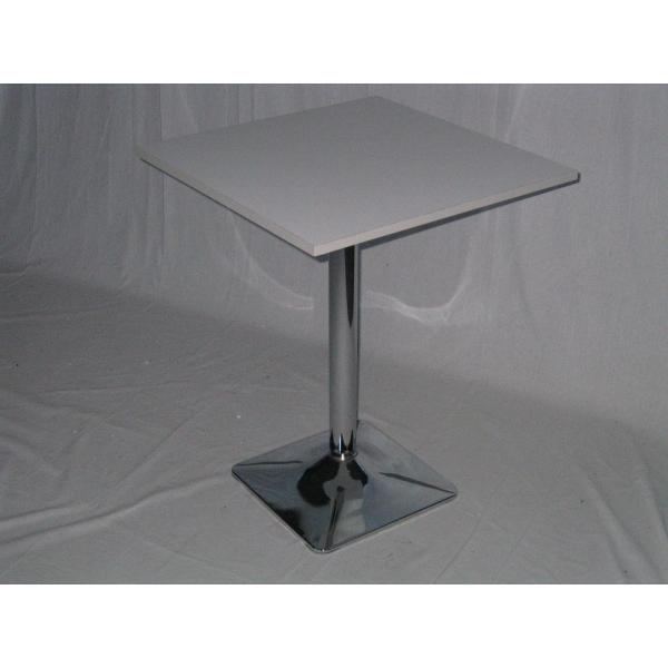 Tavolo gamba centrale acciao cromato tavolini ristorante for Tavolini per ufficio