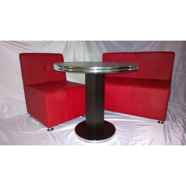 Tavolo tondo gamba centrale in legno tavolini ristorante for Tavolo tondo legno