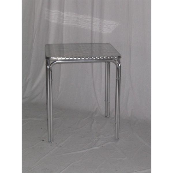 Tavolo in alluminio da bar tavolino per esterno tavolino for Sgabelli e tavoli alti per bar