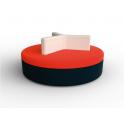 Round - Divanetto per bar e poltroncina Contract personalizzati per locali in ecopelle (pelle ecologica), tessuto.