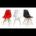 Noleggio DSW Eiffel chair Eames Sedia in Polipropilene e gambe in legno