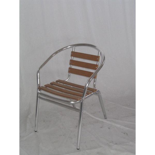 Poltrona sedia bar in alluminio doppio tubolare e legno for Sedie in alluminio