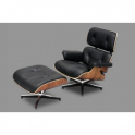 Poltrona simil Eames Lounge Chair Stile in pelle