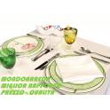 ORCHIDEA - Tovaglia in puro cotone Fascia Raso Nilo ristorante, catering, bar