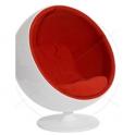 BALL CHAIR -  Sedia forma ergonomica in fibra di vetro design Eero Aarnio