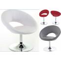Disco XL - Sgabello poltrona bar ecopelle (pelle ecologica) casa, ufficio, ristorante, hotel, discoteca, salone parrucchiere