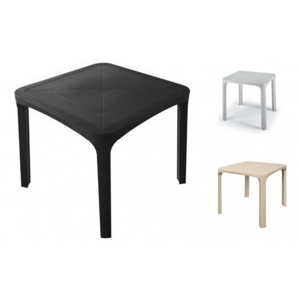 Ole 39 pila da 28 tavoli 80x80 in polyrattan da esterno for Tavoli e poltrone per esterno