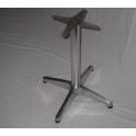 Base rinforzata pieghevole H 68 cm in alluminio per piani tavoli bar, ristorante, pub, albergo