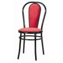 VIENNA P - Sedia thonet impilabile con seduta e schienale imbottiti in ecopelle bar, ristorante, hotel