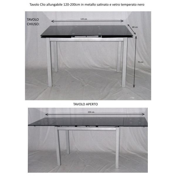 Tavolo In Vetro Nero Allungabile.Vendita Tavoli Allungabili Tavolo Da Casa Prezzo Tavoli Piano In
