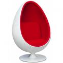 Replica Egg Chair - Sedia forma ergonomica in fibra di vetro casa studio albergo